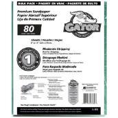 Papier abrasif gros grain 80 de qualité supérieure, 120/paquet