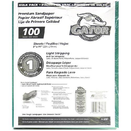 Papier abrasif gros grain 100 de qualité supérieure, 120/paquet