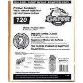 Papier abrasif grain moyen 120 de qualité supérieure, 120/pqt