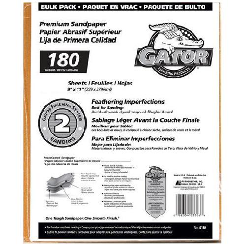 Medium Premium Sandpaper 180 Grit - 120/Pack