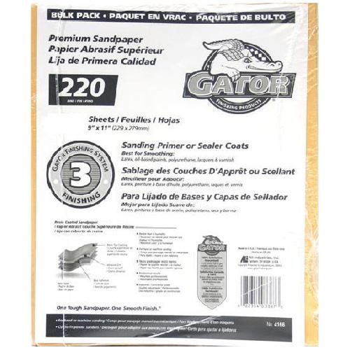 Papier abrasif fin grain 220 de qualité supérieure, 120/pqt