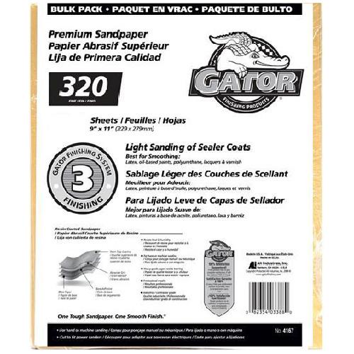 Papier abrasif fin grain 320 de qualité supérieure, 120/pqt