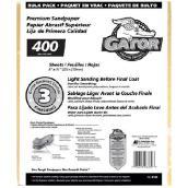 Papier abrasif fin grain 400 de qualité supérieure, 120/pqt