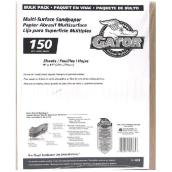 Multi-Surface Fine Sandpaper 150 Grit - 120/Pack