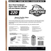 Bare Wood Extra Fine Sandpaper 220 Grit - 120/Pack