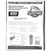 Papier abrasif très fin grain 600, 120/paquet