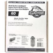 Multi-Surface Coarse Sandpaper 60 Grit - 120/Pack