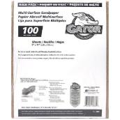 Papier abrasif grain moyen 100 multi-surfaces, 120/paquet