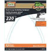 Detail Sanding Sheets -220 Grit - 12-Pack