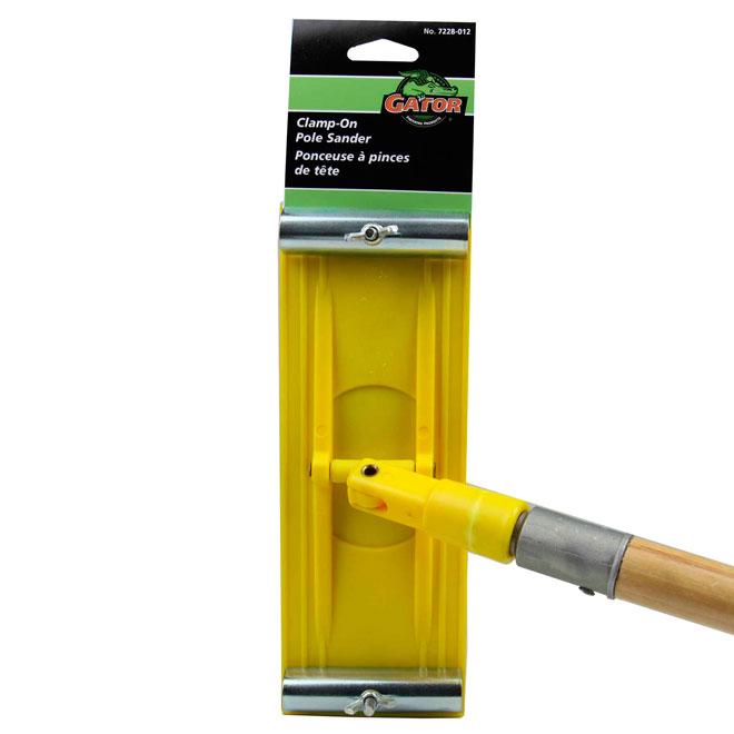 """Ponceuse à manche pour grande surface 3 1/4"""" x 8 7/8"""" jaune"""