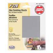 "1/4"" Sander Sheets - 220 Grit - 5-Pack"