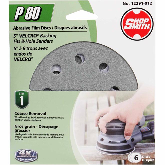 """5"""" Abrasive Disc - 80 Grit - 6-Pack"""