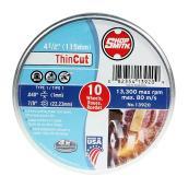 Meule à découper le métal, ThinCut, 4 1/2 po, paquet de10