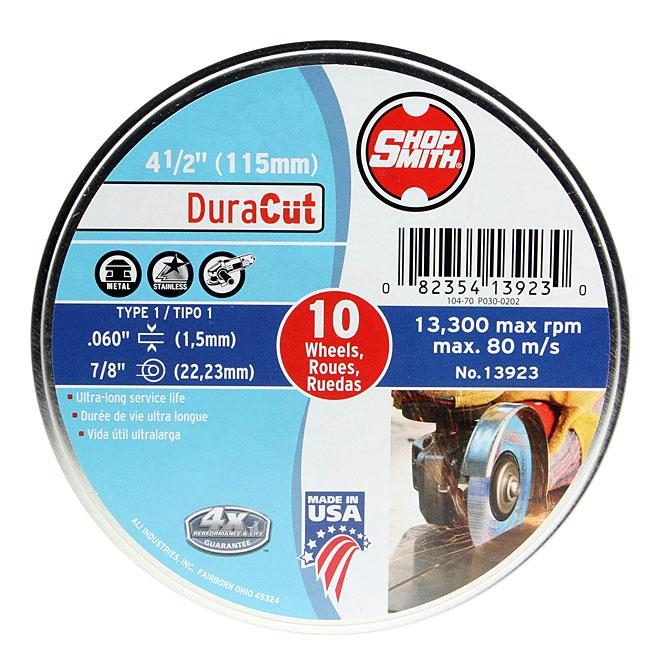 Meule à métal, DuraCut, 41/2po, paquet de 10