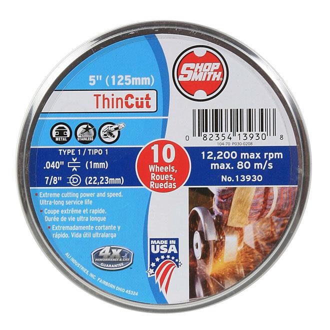 Meule à découper le métal, ThinCut, 5 po, paquet de10