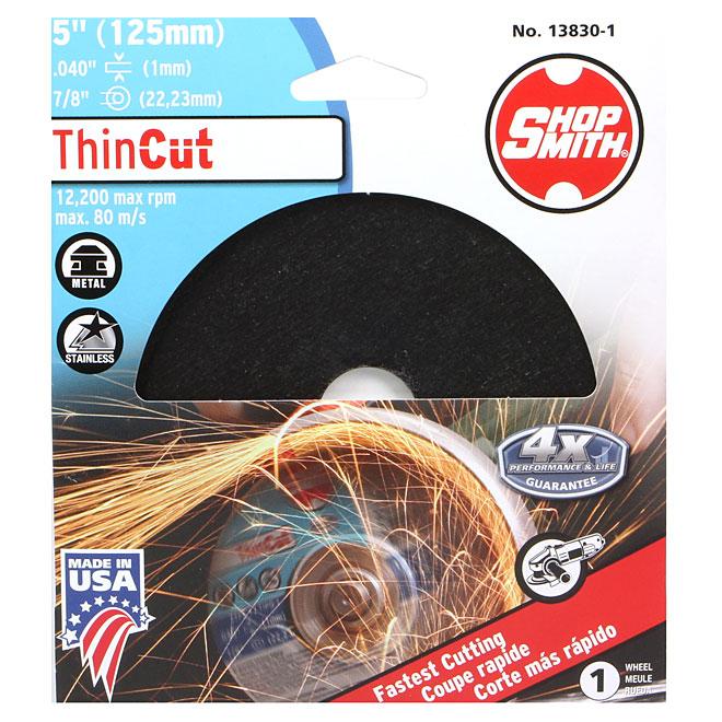 Meule à découper le métal, ThinCut, 5po