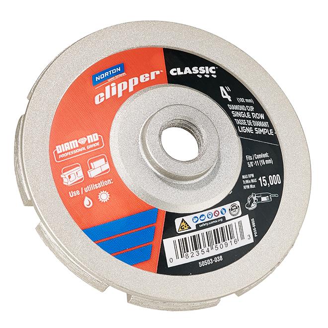 Norton Clipper Classic Cutting Wheel - 4-in Dia - 15000 RPM - Diamond