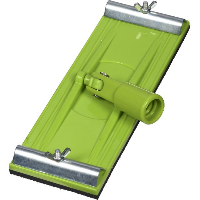 """Tête de ponceuse avec pinces, 4"""" x 10"""", vert"""