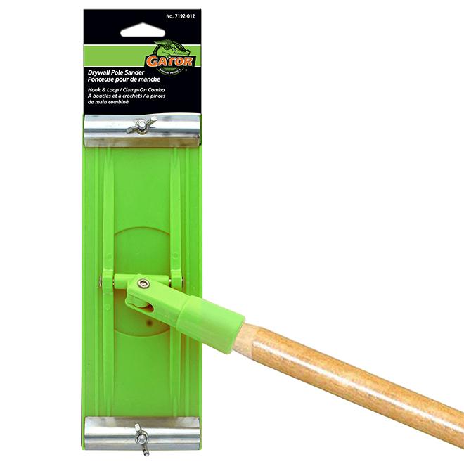 """Tête de ponceuse avec manche en bois, 4"""" x 10"""", vert"""