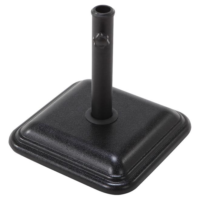 Base de parasol carrée, 13 7/8po, noire