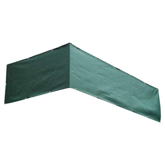 Toile d'intimité pour balcon, 30 po, vert foncé