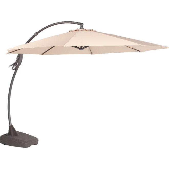 Parasol excentré pour patio, 118po, blanc cassé
