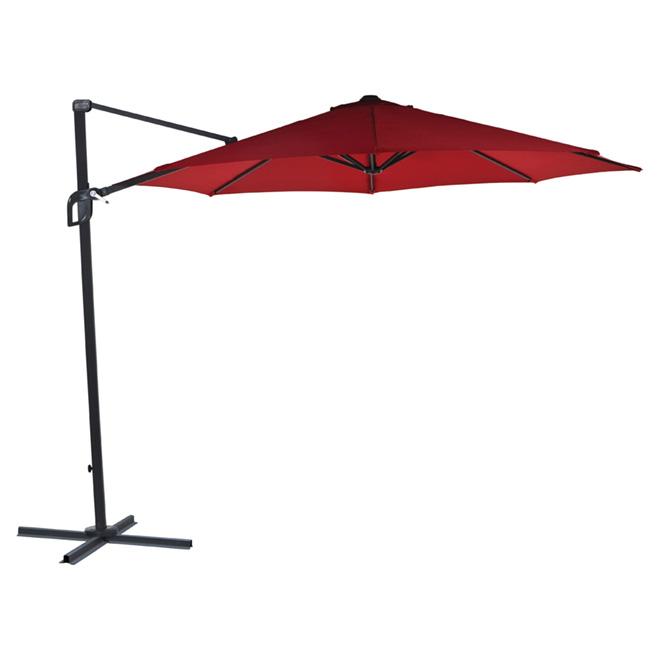 Parasol excentré pour patio «Pamplona», 118po, rouge