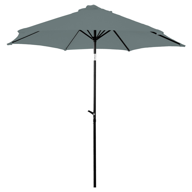 Parasol de patio, 8,8pi, gris foncé