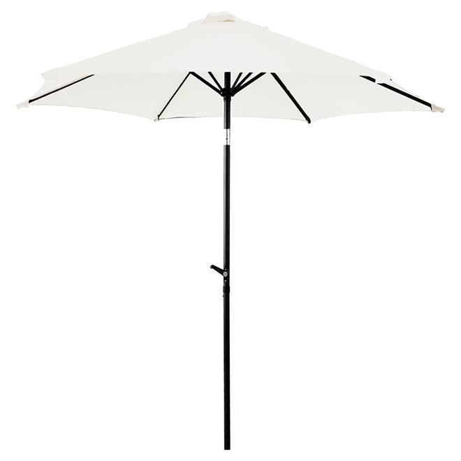 Parasol de patio, 8,8pi, crème