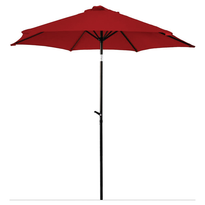 Parasol de patio, 8,8 pi, rouge