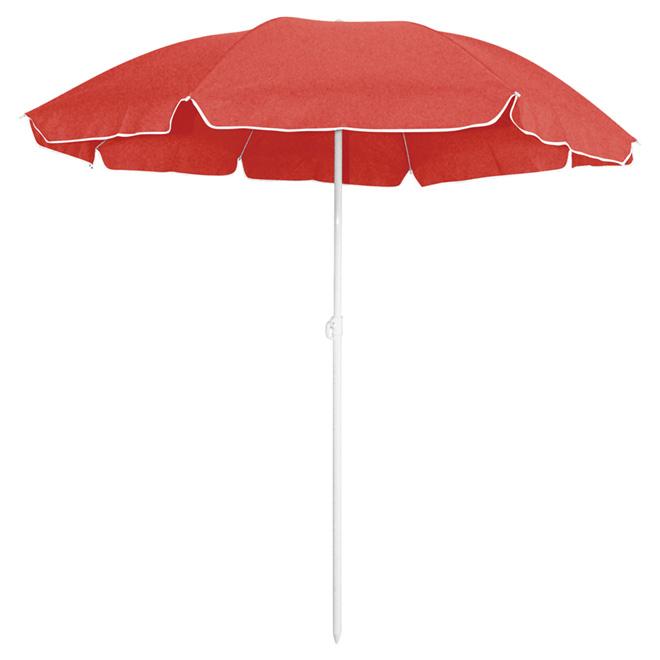 Parasol de plage, 63 po x 71 po, rouge