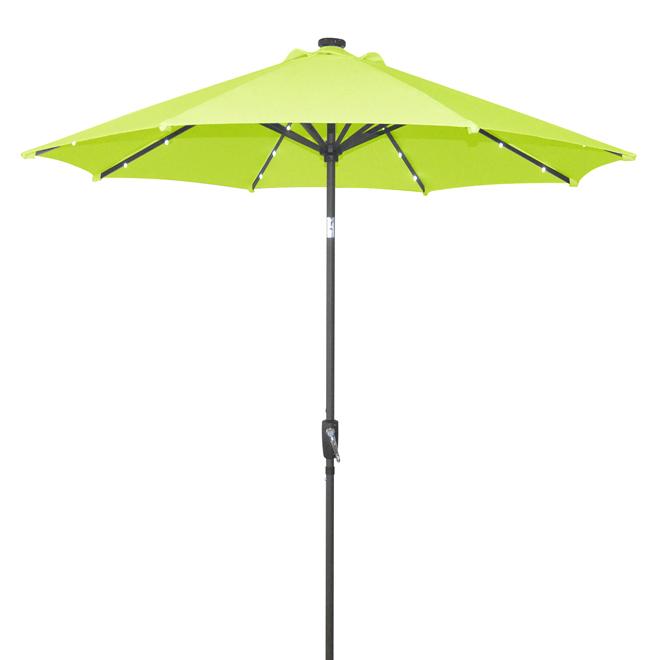 Parasol à lumières solaires, 9pi, vert