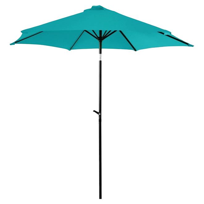 Parasol de patio inclinable, 7,5', turquoise