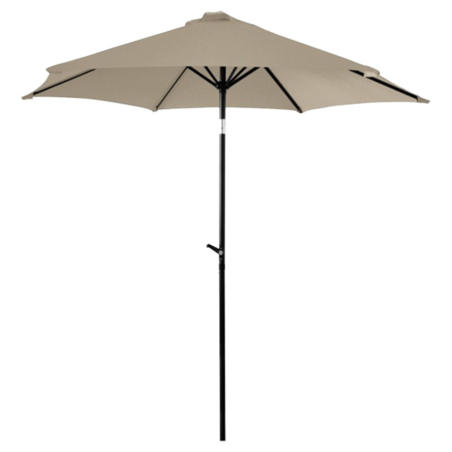 Parasol de patio inclinable, 7,5', gris chaud