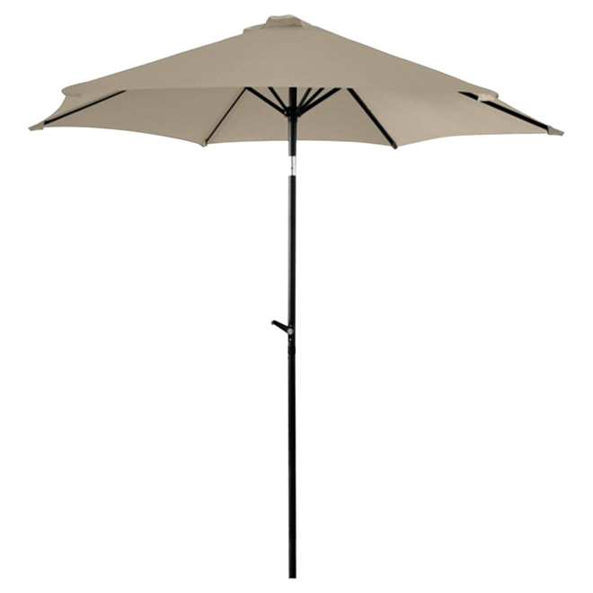 Parasol de patio inclinable, 8,8', gris chaud
