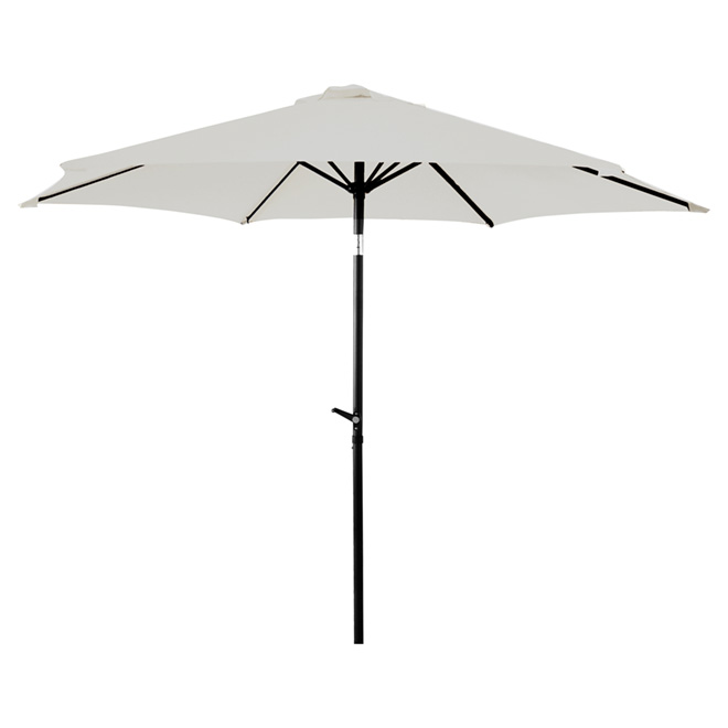 Parasol de patio inclinable, 8,8', taupe