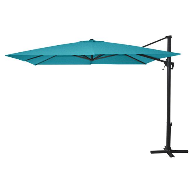 Cantilever Patio Umbrella   10'   Aqua 8531A B320C | RONA