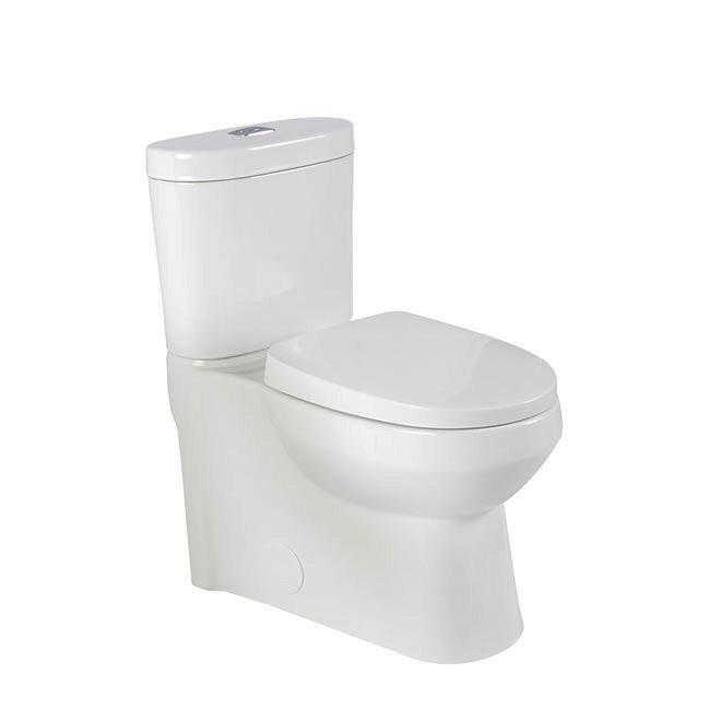 Round Front 2-Piece Toilet - Avitus - 3L/4.8L - White