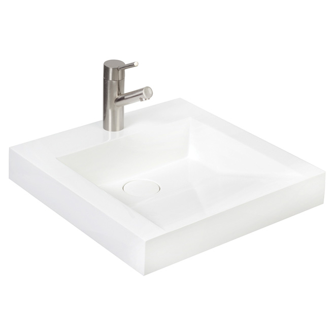 Lavabo, vasque conception inclinée, culture de marbre blanc