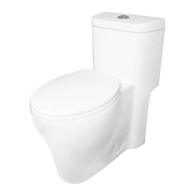 Toilette 1 pièce à cuve allongée, Maarten, 3 l/4.8 l, blanc
