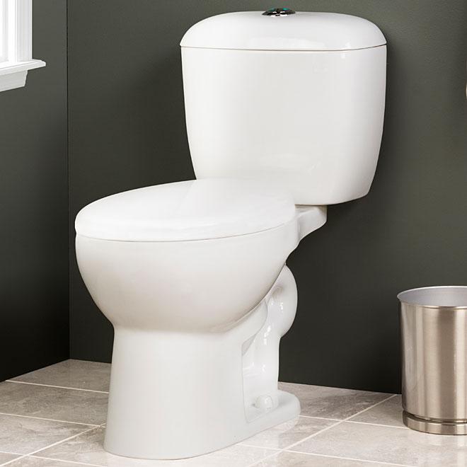 Toilette 2 pièces à double chasse, 4 l/6 l, blanc