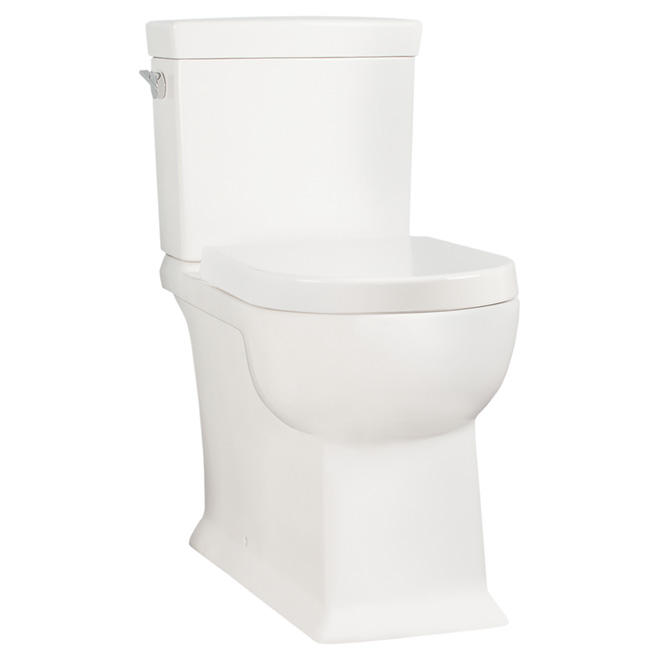 Toilette 2 pièces à cuve ronde, Cavallie, 4.8 l, blanc