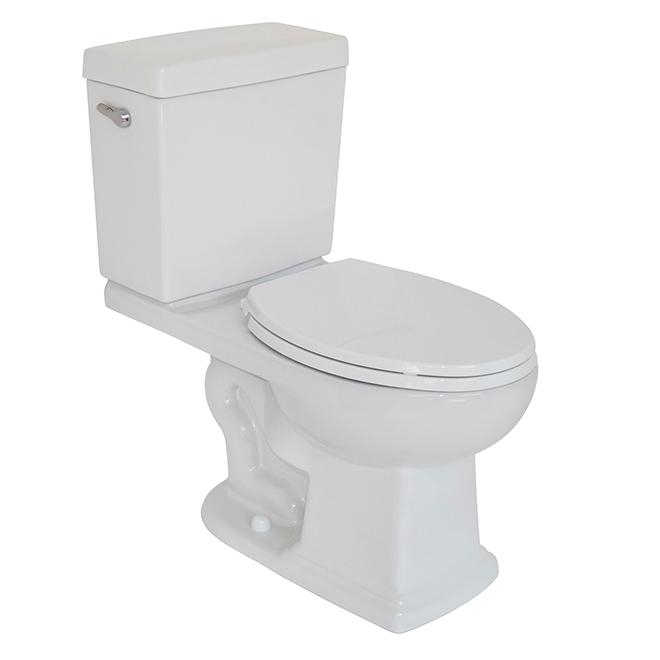 Toilette 2 pìèces à cuve allongée, Chadrick, 4,8 L, blanc