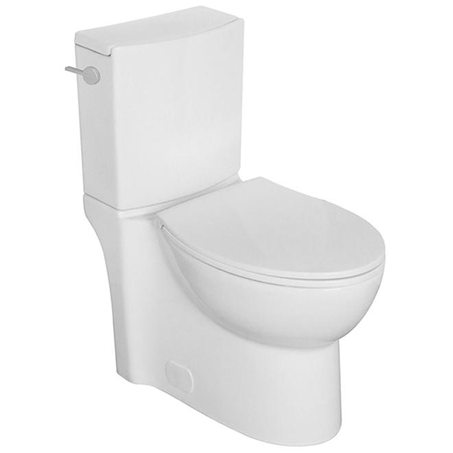 Toilette 2 pièces Gillian de Project Source, cuvette allongée, 4,8 L, 16,5 po
