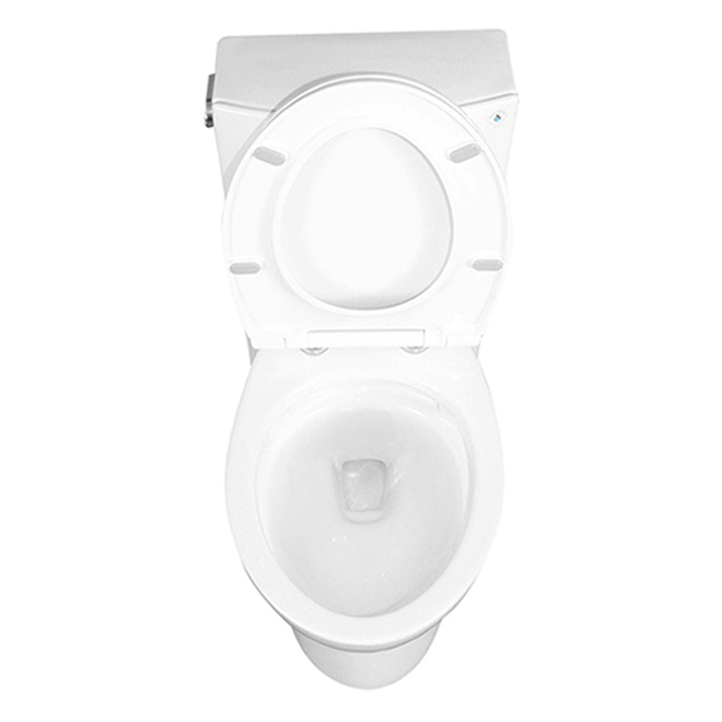 Project Source Gillian 2-Piece Toilet - Elongated Front - 4.8 L - 16.5-in - White