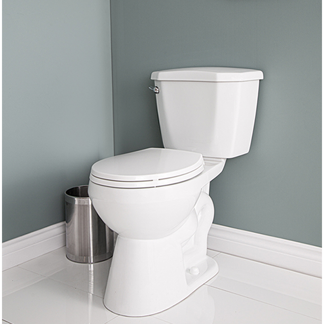 Project Source Total Eco 2-Piece Toilet with Microban Seat - 4.8-L