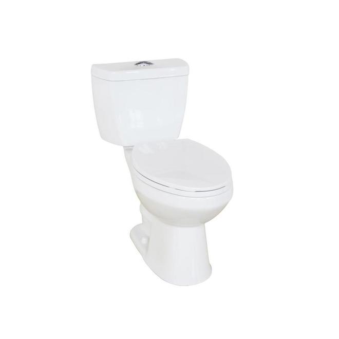 Project Source Evalin 2-Piece Toilet - Dual Flush - 4.1-L/6-L
