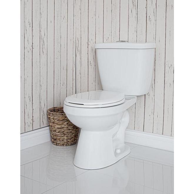 Toilette 2 pièces Project Source, double chasse, 4 L/6 L, blanc
