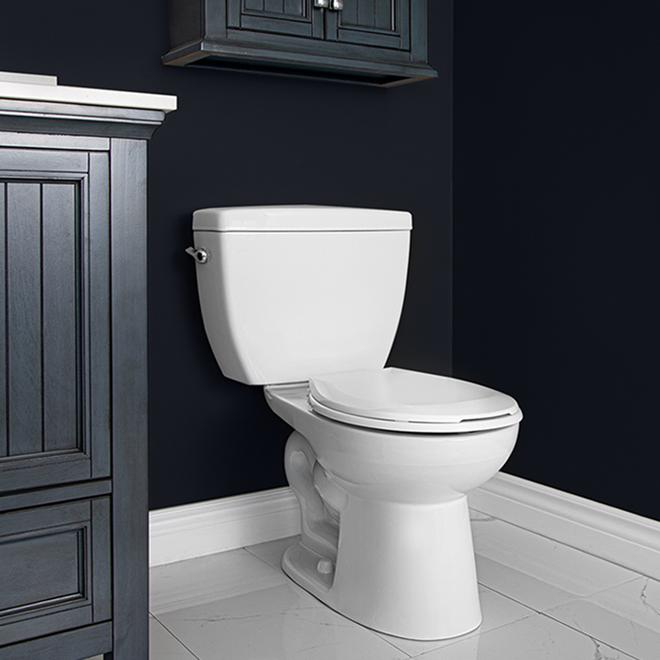 Project Source Minuet 2-Piece Toilet - Round Bowl - 6 L - White