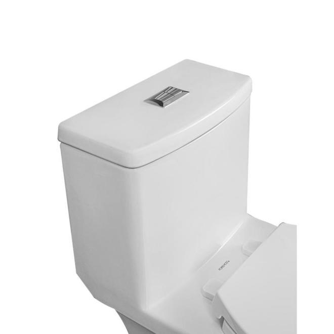 Project Source Lynton 1-Piece Toilet - Elongated - 3-L /4.8-L - White